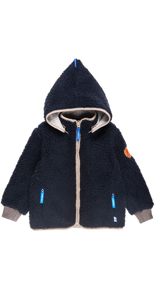 Finkid Tonttu Teddy Jacket Kids navy/sand